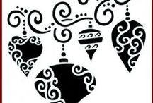 Imagination Crafts Christmas Stencils / High quality Mylar stencils. 152 x 152mm (6 x 6 ins)