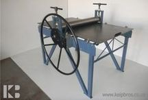 Etching Press Linocut Woodcut Printmaking / Equipment, rollers and Felts for Etching / Linocut / Intaglio / Gravura / Collagraph