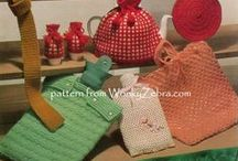 vintage bazaar knitting and crochet patterns / tea cosies, hotwater bottle covers, cushions and oddments for sale of work and bazaar items