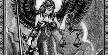 Justice - Tarot Cards / A selection of Tarot cards picturing Justice. More about the card and how to read it: http://tarotparlor.com/tarot-card-meanings-justice/