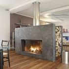 Wood Burner Fireplaces / Wood heaters have been increasing in popularity with the advances in technology making them more efficient and more stylish, with many sleek contemporary designs becoming a major feature in new homes.