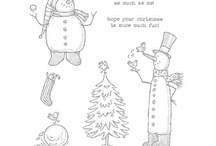 paper cards - christmas snow much fun & snowmen / by Susan Harwell Hendrick