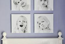 Decorating With Photography / Take a look and be inspired to decorate with portraits of your family.