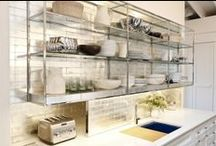 Clean white kitchens