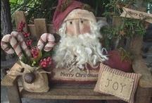 Natal rústico! adoro muito / Adoro essas peças country primitivo de natal e outros / by Nanci Custodio Cristoni