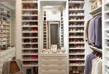 Closets / Fun ways to decorate your closet and make it more functional and fashionable.