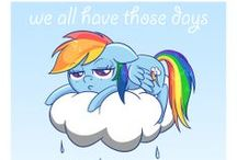 Ponies :) / My Little Pony Friendship is Magic.  Love Fluttershy and Rainbow Dash!