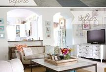 Room redos/ make me over / Before and afters of room make overs.