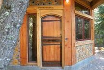 Cordwood Homestead / Cordwood masonry, cordwood homes and buildings, small home floorplans, home design, tiny house, and debt free living