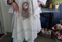 DIY Shabby clothes  Linen Tuniken Grainsack Laces Leinen Mehlsack Spitzen /  Handarbeiten und selbstgeschneidertes  aus alten Mehlsäcken