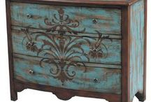 Inspired by painted furniture.