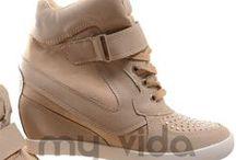 Sneakers donna / My Vida  sneakers scarpe da ginnastica sportive sport alte zeppa interna basse scarpa fitness