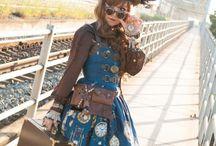 Stars and Steampunk Lolita Fashion / Timey Wimey Lolita Fashion