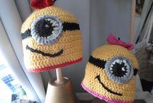 Minions crochet Baby hat / Crochet Baby hat for a new born Baby Häkelmützchen für Neugeborene ...alle aus Merino Soft Wolle gearbeitet... Sweet little Minions