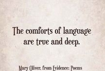 •The Comforts of Language•