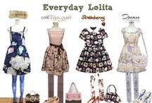Casual Lolita / Lolita fashion you can wear to work, or for a normal day around town brands like Milk, Emily Temple Cute, and Axes Femme