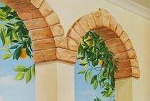 Роспись стен Новосибирск / Мои работы по росписи стен - простой и объемной
