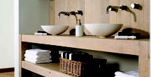 Bathrooms by Di Legno / Use of Di Legno wooden solutions in the entire bathroom