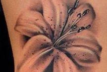 tattoo hibiscus & roses
