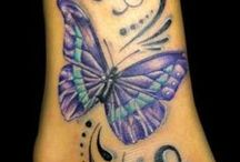 tattoo hearts & butterflies