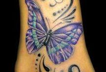 tattoo hearts & butterflies