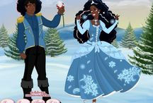 Black Princess Illustrations / Beautiful Black Princesses   Me and my sister created using various doll makers on the internet by Lena Sinex