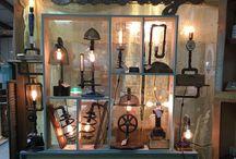 Industrial Lighting by Brad Benton / Lighting, Home Decor, Industrial, Rustic. Industrial Lighting at Seaglass Salvage Market in Leland NC Brad@seaglasssalvagemarket.com 910-239-7709