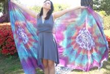 Silk / Silk Art in dye works. Hand crafted. Original