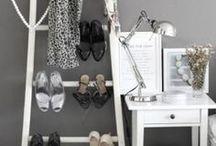 Leaning Shelves + Ladders