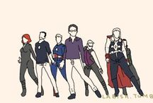 Avengers ❤ / I love Hawkeye and the Vision ♡