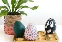 Happy Easter / Modern Easter tablesetting, decorating ideas and DIY projects.