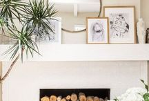 mantles:fireplaces / Feuer, Wärme, Entspannung, Stil, wohnen, Familie, Holz, Dekoration