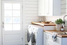 laundry:room / Wäsche, Ordnung, Sauberkeit, Verstauen, wohnen, Konzept, Haushalt