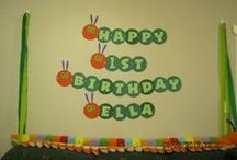 Ella's 1st Birthday Very Hungry Caterpillar Theme