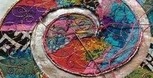 Fabric, Textile & Embroidery / Fiber art, quilts, stitched paper, embroidery, sewing, mixed media.