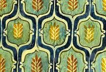 Ogee Shapes & Patterns / Ogee patterns in illustrations, fabric, fiber art & design.