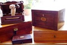 Boxes and trunks / Wood, leather or silver, boxes, trunks or suitcases in all sizes and shapes are just beautiful!