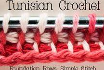 Вязанье тунисским крючком