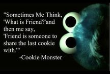 Cookie Monster and Minions.