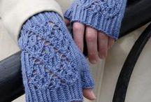 Вязанье Митенки Перчатки Варежки