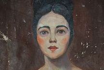 Vintage & antiques oil portraits