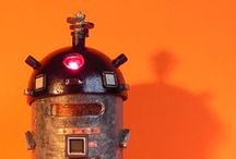 Love is Everything / Love is everything robots nightlight art sculpture recycle upcycle