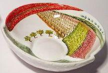 Artigianato artistico - Art crafts - Collezione Materia Ceramica / Ceramica artigianale dipinta a mano - Handmade pottery -  Materia Ceramica, via dei Priori 70, Perugia