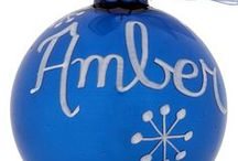 Birthstone Christmas Ornaments / Birthstone Christmas Ornaments that can be personalized.