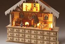 Wooden Christmas Advent Calendars / Wooden Christmas Advent Calendars
