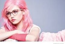 Pink Frames/Eyewear / Pink frames and fashionable eyewear #Optrafair