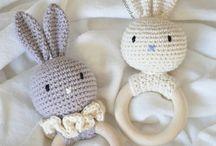baby's toys (crochet&knitting) / Мимишные игрушки для деток, связанные крючком  и на спицах