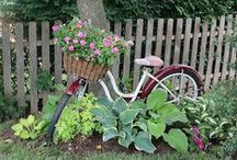 Garden / A garden is more than the plants...it's an outdoor space to decorate.  Old bikes, baskets, buckets, flower pots, wagons, primitive crafts, doors, shutters...love it!!!  / by Chestnut Junction