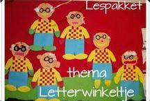 Het letterwinkeltje / Letters kleuters