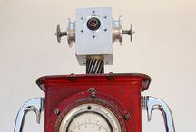 Retro robots / Old time robots made out of crazy stuff